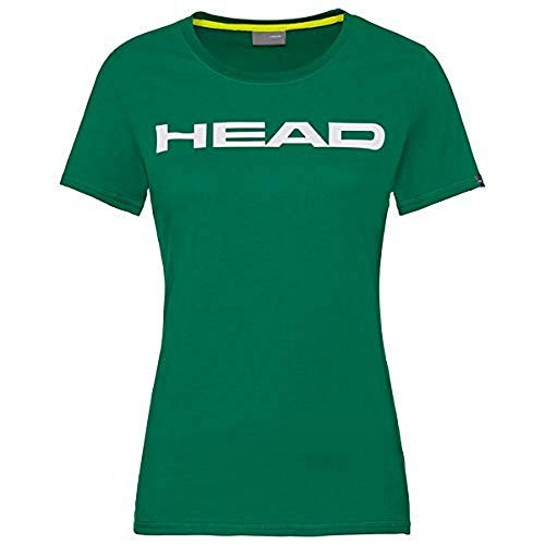 HEAD Damen Club Lucy T-Shirt W, Green/White, L von HEAD