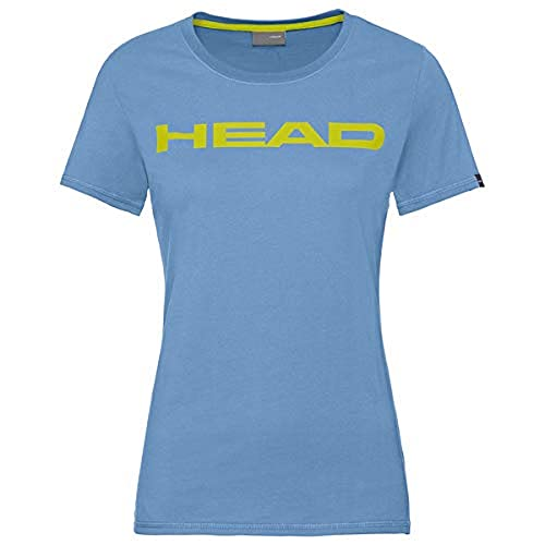 HEAD Damen Club Lucy T-Shirt W, Sky Blue/Yellow, XL von HEAD