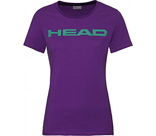HEAD Damen Club Lucy T-Shirt W, Violet/Jade Green, M von HEAD