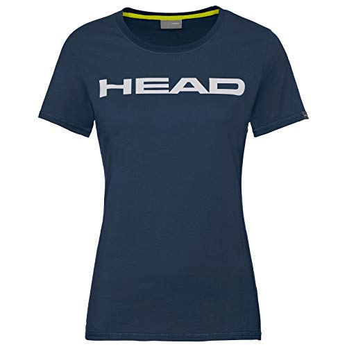 HEAD Damen CLUB LUCY T-Shirt W, darkblue/White, XS von HEAD
