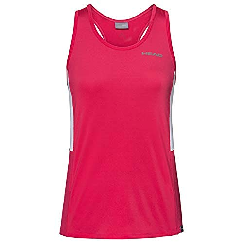 HEAD Damen CLUB Tank Top W T-shirts, magenta, M von HEAD