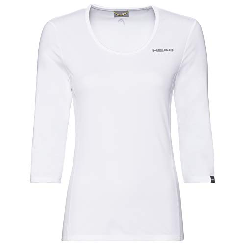HEAD Damen Club Tech 3/4 Shirt W T, weiß, Medium von HEAD