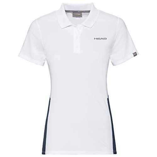 HEAD Damen Polos Club Tech Polo Shirt W, weiß/dunkelblau, S, 814339-WHDBS von HEAD