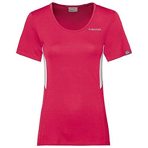 HEAD Damen Club Tech W T-Shirts, Magenta, S von HEAD