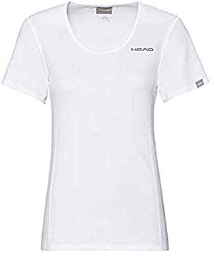 HEAD Damen Club Tech W T-Shirts, White, 3XL von HEAD