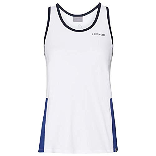 HEAD Mädchen Club Tank Top G T-Shirts, White/Royal, 152 von HEAD