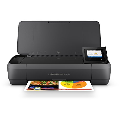 HP Officejet 250 mobiler Multifunktionsdrucker (Drucker Scanner, Kopierer, WLAN, HP ePrint, Wifi Direct, USB, 4800 x 1200 dpi) schwarz von HP