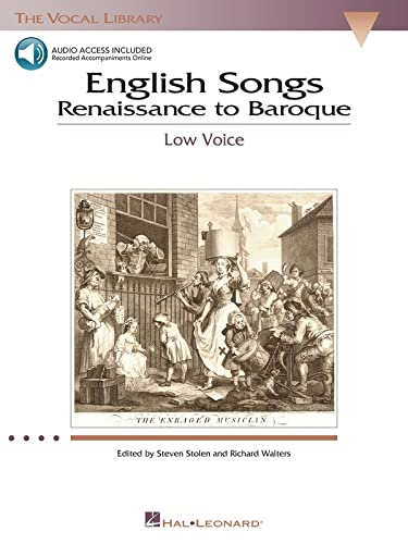 English Songs: Renaissance to Baroque: The Vocal Library Low Voice [With 2 CD's] von Hal Leonard