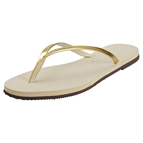 Havaianas Damen You Metallic Zehentrenner,Gold (sand Grey/light Golden 2719),43/44 EU ( 41/42 Brazilian) von Havaianas