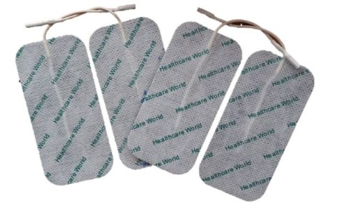 Healthcare World Large Rectangular Tens Electrode Pads For Tens Machines set of four by Healthcare World von Healthcare World