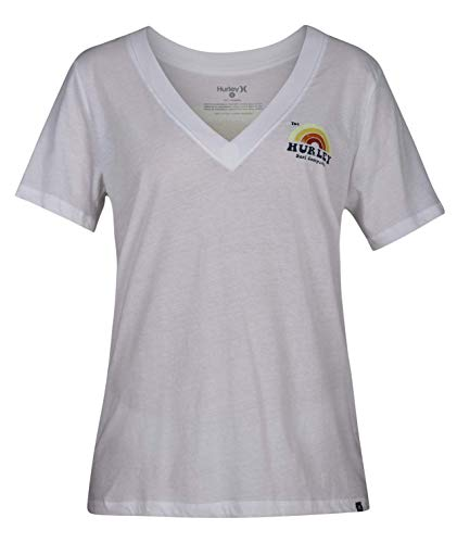 Hurley Damen W SURFBOW Perfect Vneck T-Shirts White L von Hurley