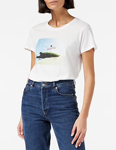 Hurley Damen W Sun and Fun Prefect Crew T-Shirts White, L von Hurley