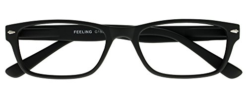 I NEED YOU Lesebrille Feeling, +1.00 Dioptrien, schwarz von I Need You