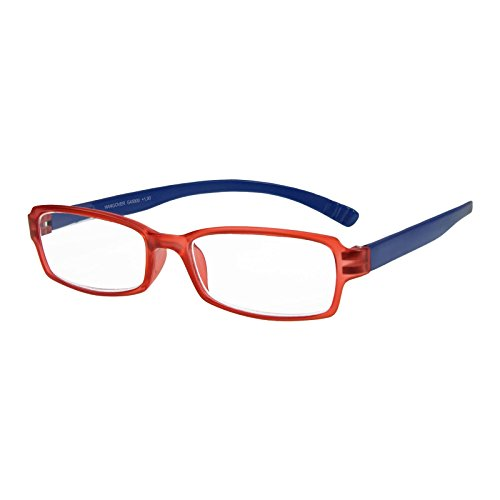 I NEED YOU Lesebrille Hangover / +1.00 Dioptrien/Rot-Blau, 1er Pack von I Need You