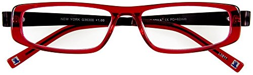 I NEED YOU Lesebrille New York / +2,00 Dioptrien / rot/schwarz von I Need You