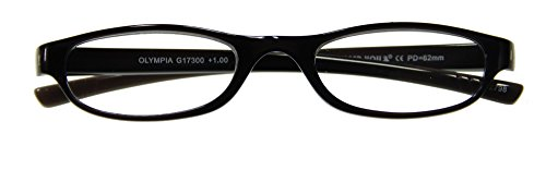 I NEED YOU Lesebrille Olympia / +1,00 Dioptrien/schwarz von I Need You