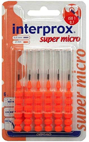 INTERPROX reg super micro orange Interdentalb.Blis 6 St Zahnbürste von INTERPROX