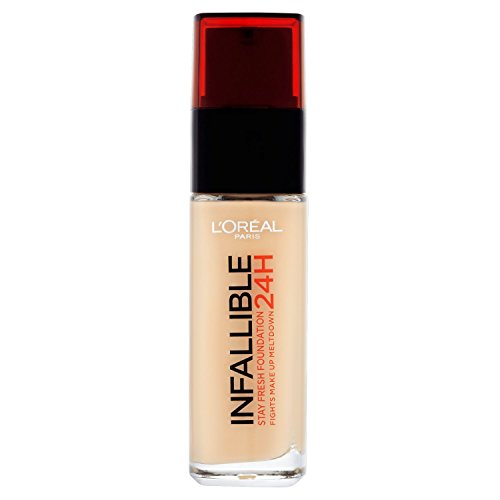 3 x L'Oreal Paris 24H Infallible Stay Fresh Foundation 30ml - 140 Golden Beige von L'Oréal Paris