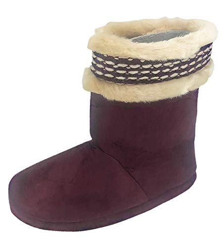 ISOTONER Women's Woodlands Cozy Boot Slippers- Enhanced Heel Cushion von Isotoner
