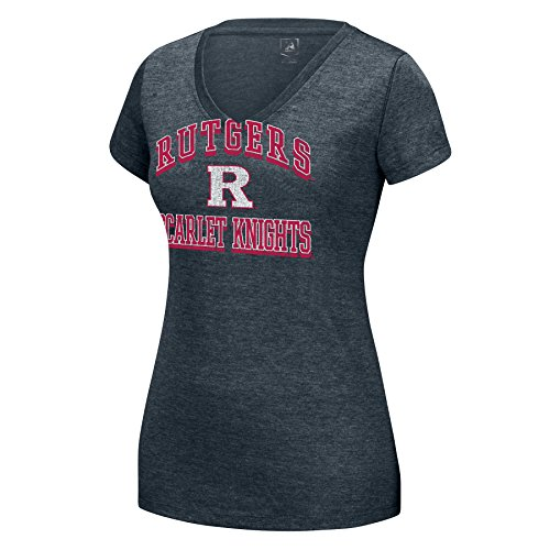 J America NCAA Damen Distressed Schule Arch Heathered Grand Slam Tee, Damen, Heathered Grand SLAM Tee, Charcoal Heather, Small von J America
