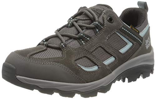 Jack Wolfskin Damen VOJO 3 TEXAPORE LOW W Outdoorschuhe, Tarmac Grey/Light Blue, 42 EU von Jack Wolfskin