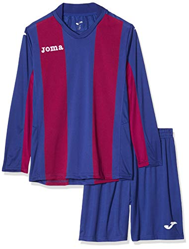 JOMA SET PISA V BLUE-BURGUNDY T-SHIRT L/S+SHORT+SOCKS 2XL-3XL von Joma