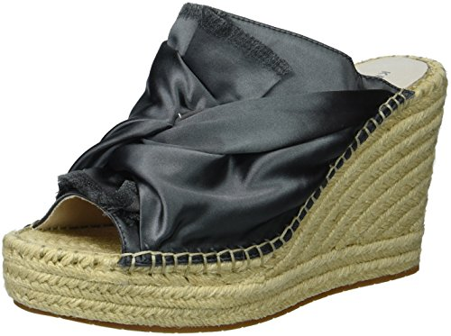 Kenneth Cole New York Women's Odelle 2 Slip On Wedge Espadrille Sandal, Charcoal, 7 M US von Kenneth Cole New York