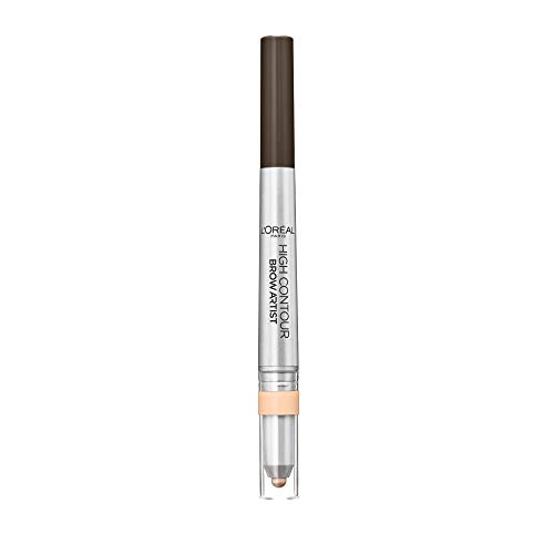 L'Oréal Paris Brow Artist High Contour Nr. 109 Ebony, 2-in-1 Augenbrauenstift mit farblich abgestimmtem Highlighter, herausdrehbare Mine von L'Oréal Paris