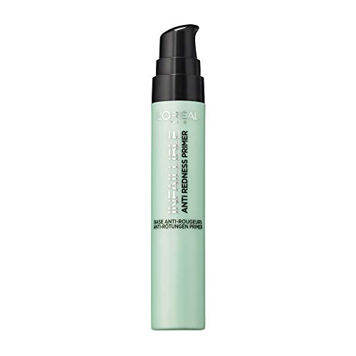 L'Oréal Paris Infaillible Anti-Redness Primer, die Make-up-Grundierung gleicht Rötungen im Gesicht aus, bereitet die Haut optimal auf das Make-up vor von L'Oréal Paris
