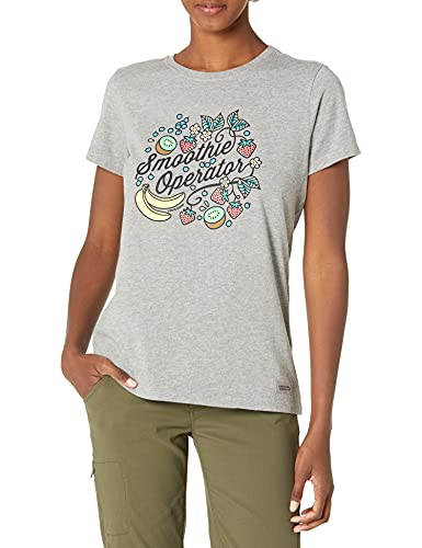 Life Is Good Damen Standard Crusher Graphic T-Shirt, Heather Grey, XS von Life Is Good