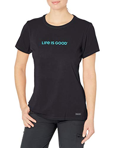 Life Is Good Damen T-Shirt Crusher Graphic, Damen, Hemd, Womens Crusher Graphic T-Shirt, Jet Black, Large von Life Is Good