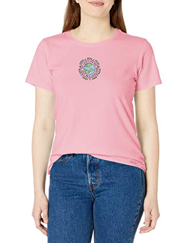 Life Is Good Damen Vintage Crusher T-Shirt Athletic T-Shirt, Damen Unisex-Erwachsene, Vintage Crusher T-Shirt Earth, Erde Happy Pink, X-Small von Life Is Good