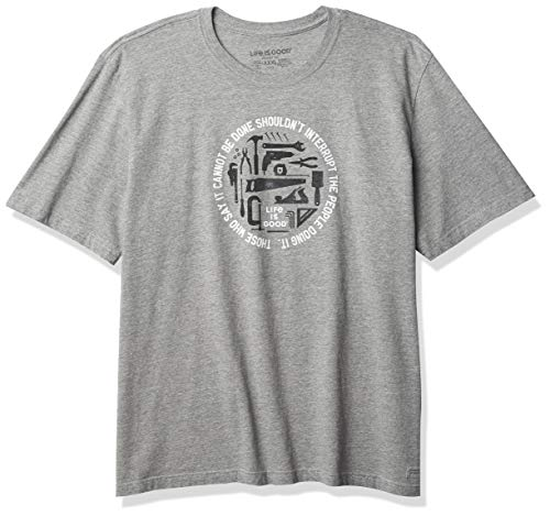 Life Is Good Herren Standard Crusher Graphic T-Shirt, Heather Grey, Medium von Life Is Good