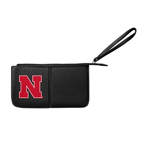 Littlearth Damen NCAA Nebraska Cornhuskers Pebble Wristlet, schwarz, 20,3 x 10,2 x 2,5 cm von Littlearth