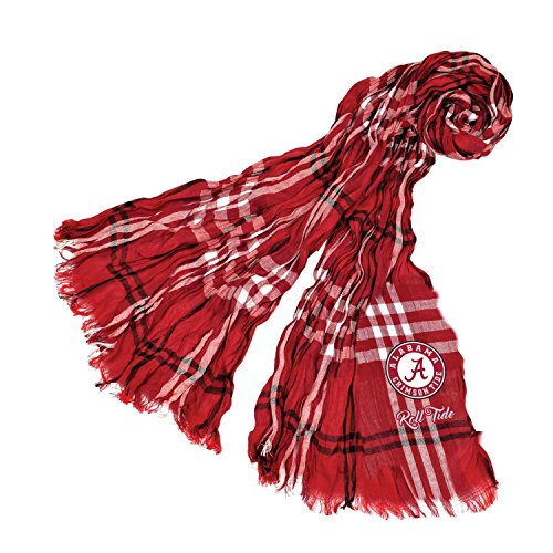 Littlearth NCAA Alabama Crimson Tide Plaid Crinkle Scarf von Littlearth