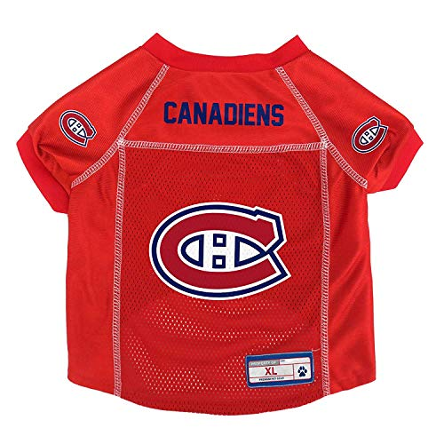 Littlearth NHL Basic Pet Sports Jersey Designed for Dogs and Cats Montreal Canadiens, XS, Hellrot, Teamfarbe, X-Small von Littlearth
