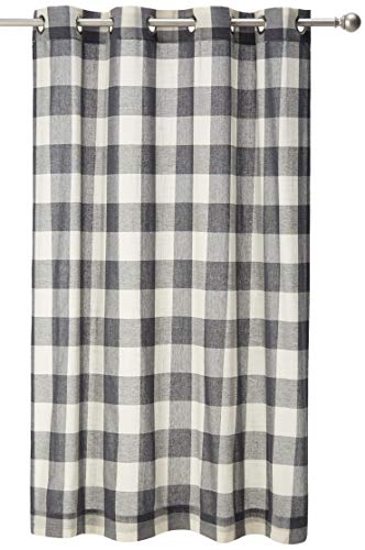 "Lorraine Home Fashions, Gray, Courtyard Grommet Window Curtain Panel, 53"" x 63"" von Lorraine Home Fashions"