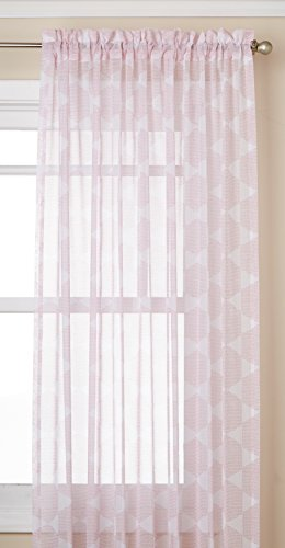 "Lorraine Home Fashions 06510-84-00021 Rose Matrix Tailored Window Curtain Panel, Rose, 54"" X 84"" von Lorraine Home Fashions"