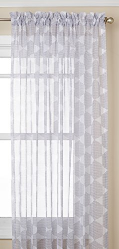 "Lorraine Home Fashions 06510-84-00109 Gray Matrix Tailored Window Curtain Panel, Gray, 54"" X 84"" von Lorraine Home Fashions"