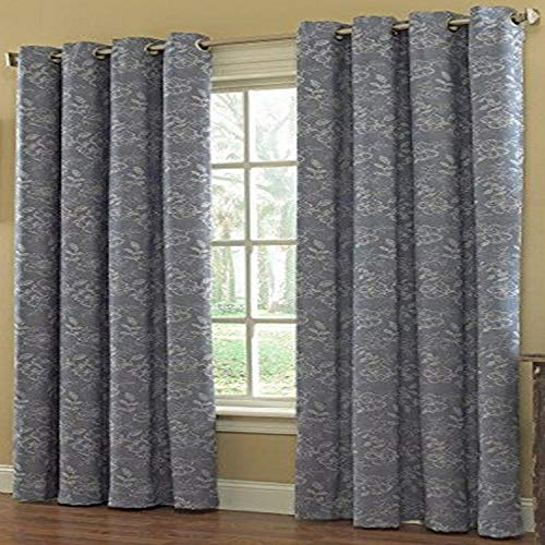 "Lorraine Home Fashions 09499-84-00003 Blue Trellis Grommet Window Curtain Panel, 55"" x 84"", Blue von Lorraine Home Fashions"