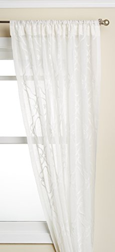 Lorraine Home Fashions Carlyle Window Curtain Panel, 50 x 84, White von Lorraine Home Fashions