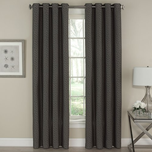 Lorraine Home Fashions Fizz Window Curtain Panel, 54 inch x 84 inch, Charcoal von Lorraine Home Fashions