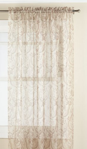 Lorraine Home Fashions Fontaine Tailored Window Treatment Panel, 58 by 84-Inch, Cocoa von Lorraine Home Fashions
