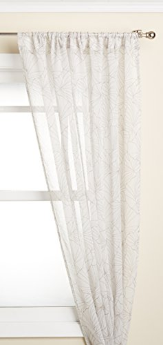 Lorraine Home Fashions Irvine Tailored Window Curtain Panel, 52 x 84, Putty on Ivory von Lorraine Home Fashions