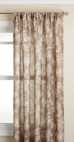 Lorraine Home Fashions Olivia Curtian Window Panel, 52 inch x 63 inch, Cocoa von Lorraine Home Fashions