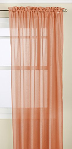 Lorraine Home Fashions Reverie Tailored Window Panel, 60 by 63-Inch, Spice von Lorraine Home Fashions