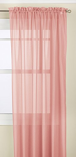 Lorraine Home Fashions Reverie Tailored Window Panel, 60 by 72-Inch, Melon von Lorraine Home Fashions