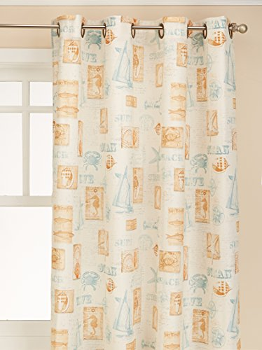 "Lorraine Home Fashions Sea Grommet Top Window Curtain Panel, 60"" x 63"", Green von Lorraine Home Fashions"