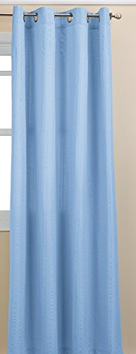 Lorraine Home Fashions Seersucker Textured Grommet Window Curtain Panel, 56 X 63 Inch, Blue von Lorraine Home Fashions