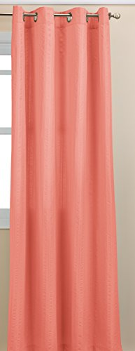 Lorraine Home Fashions Seersucker Textured Grommet Window Curtain Panel, 56 X 84 Inch, Coral von Lorraine Home Fashions
